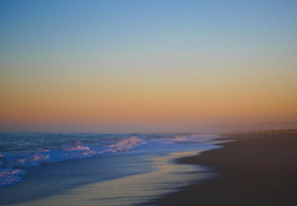 South Westland Beach at sunset