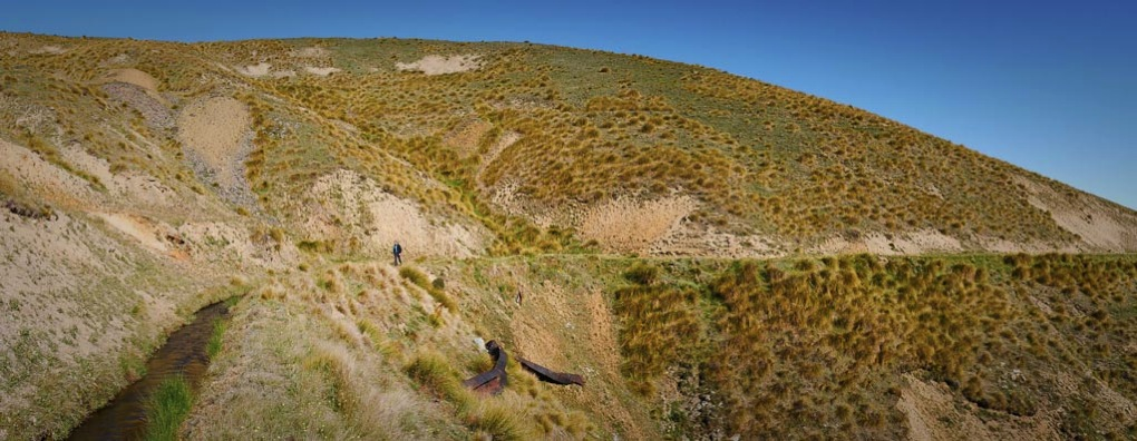 The Carrick Range water race, Central Otago