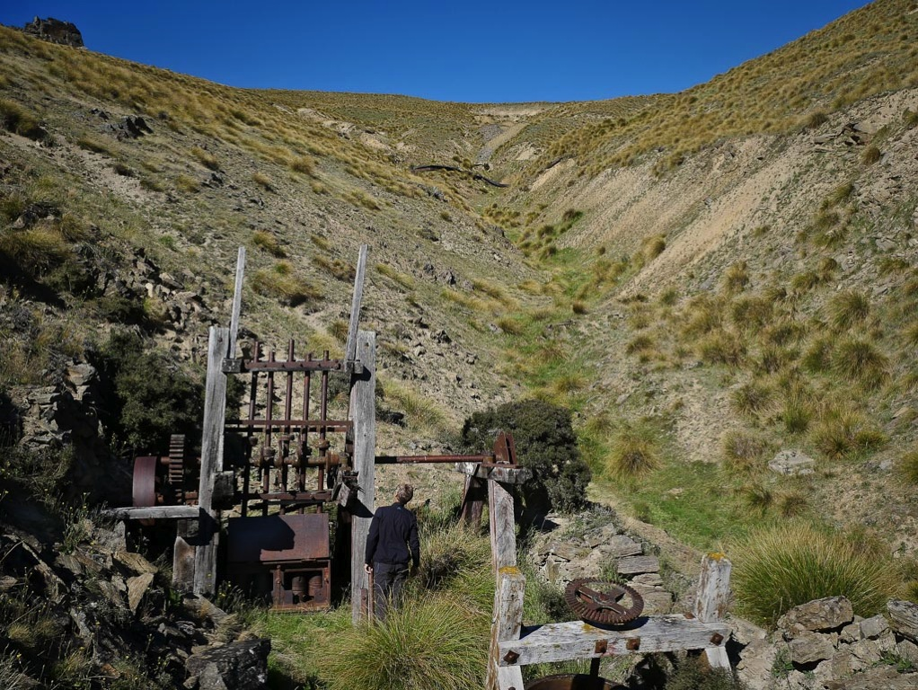 Adams Gully stamper battery on the Carrick Range, Central Otago