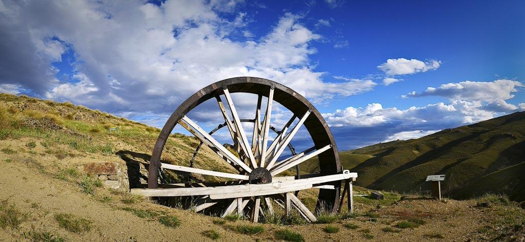 Young Australian Waterwheel, Central Otago
