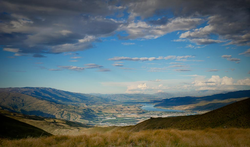 Cromwell from the Carrick Range, Central Otago