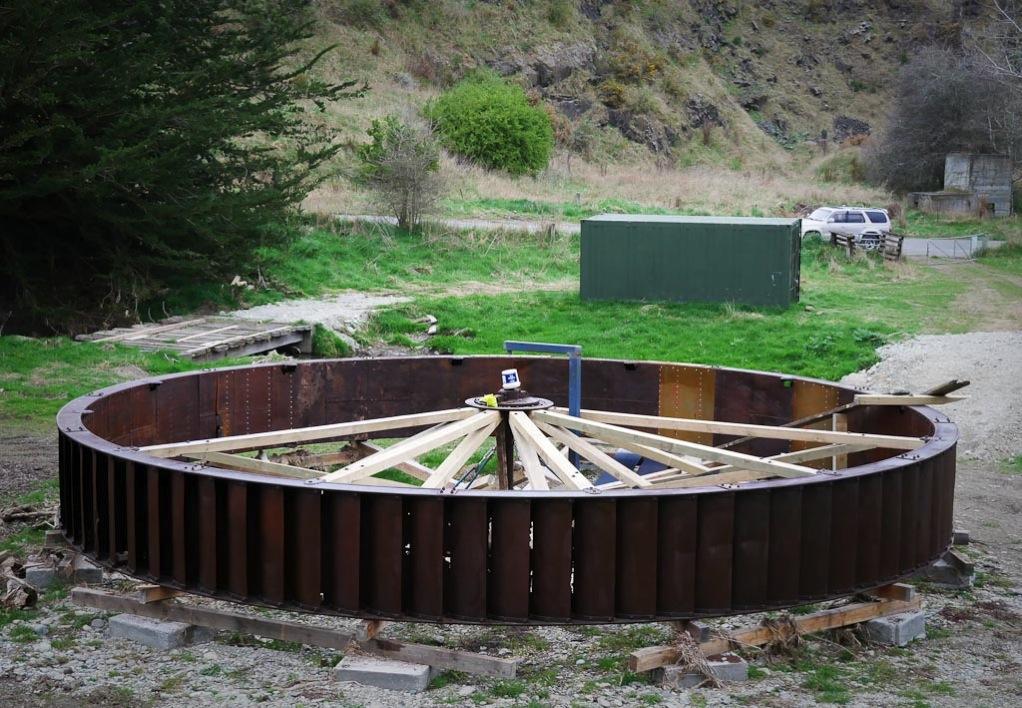Oamaru Old Mill Waterwheel restoration