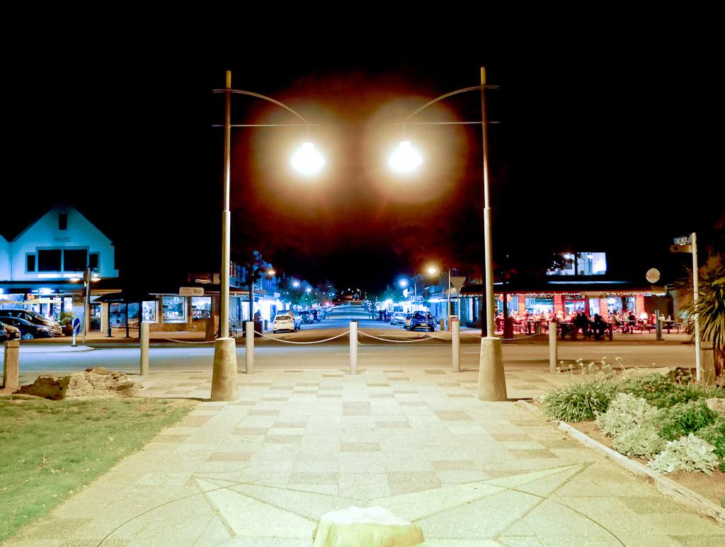 Wanaka town center by night 4