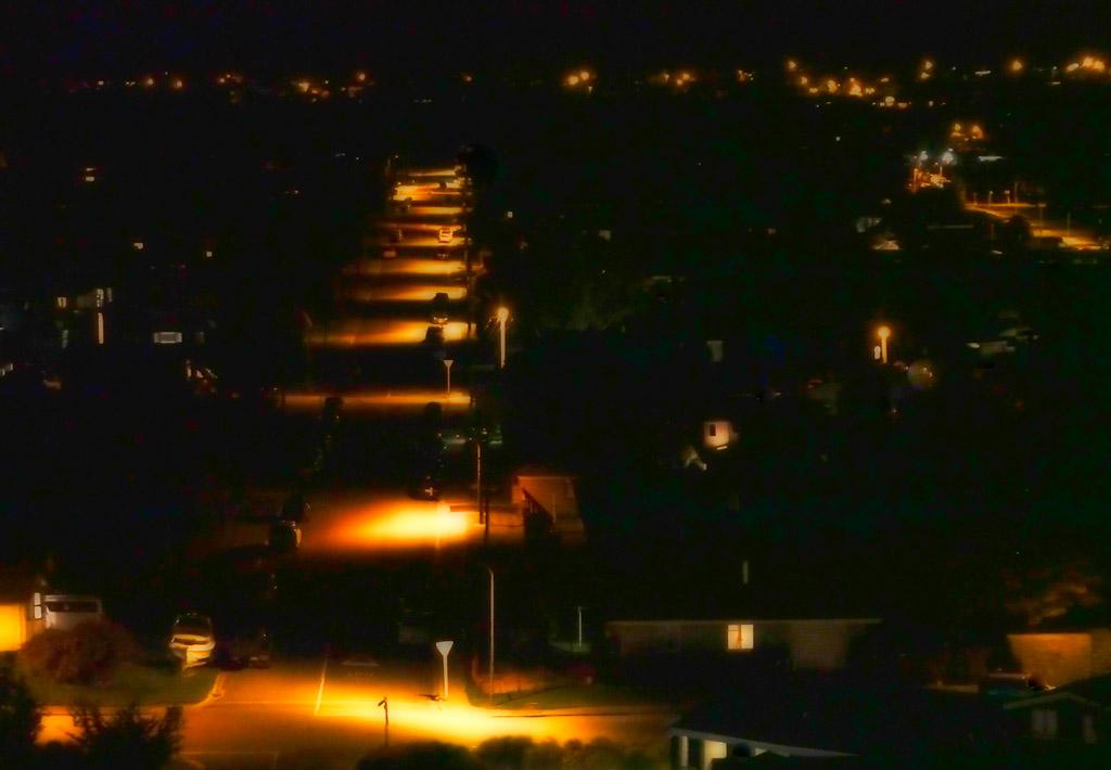 Wanaka by night - Tenby St
