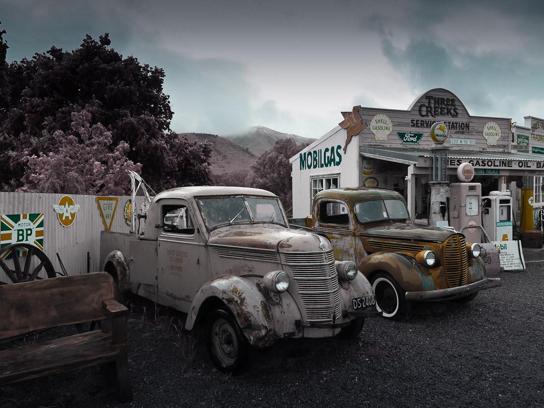 Burkes Pass vintage cars