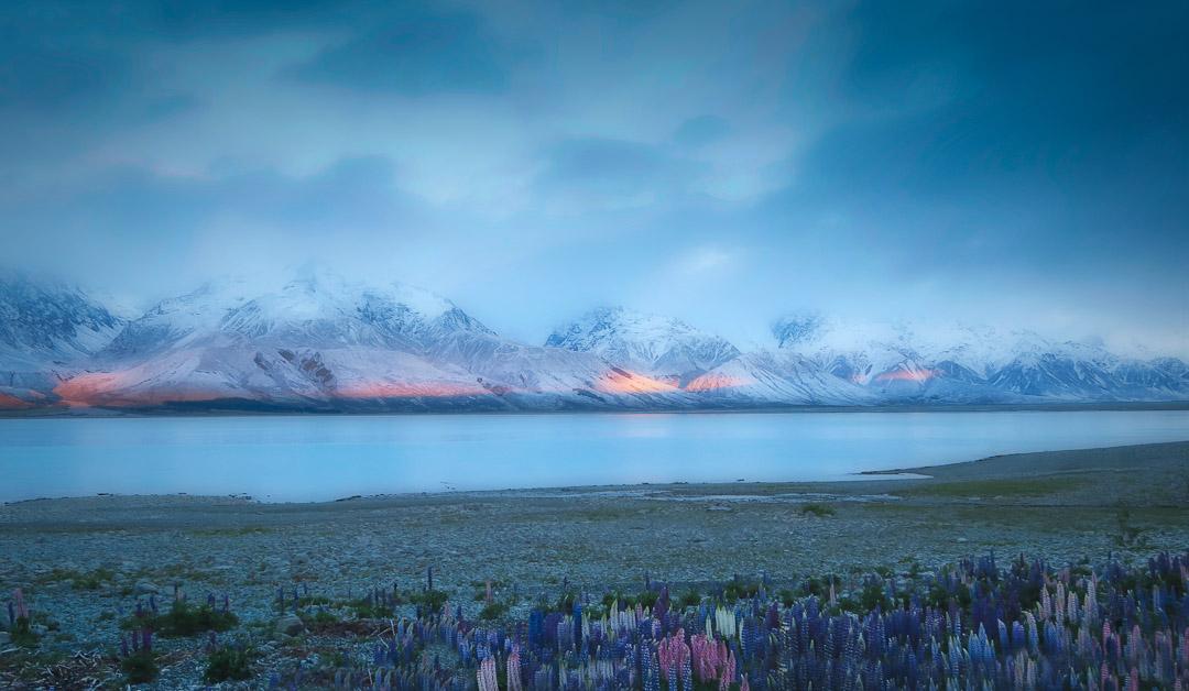 Dawn on Ben ohau mountain range