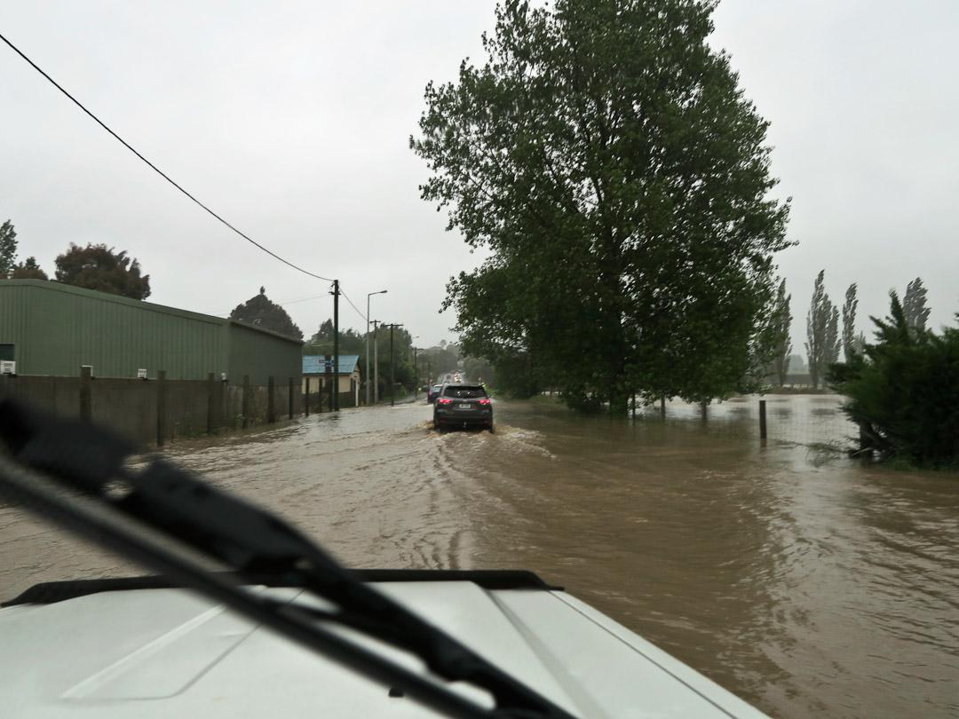 Star Highway flooded road in Otago