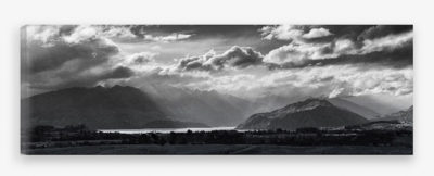 fine art canvas of Lake Wanaka from Criffel Range