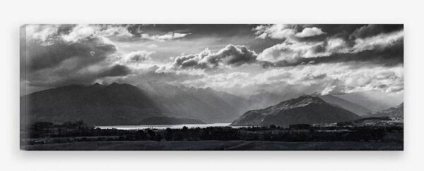 fine art canvas of Lake Wanaka from Criffel Range