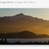 Canvas print of Lake Wanaka winter sunset glow