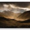 Canvas print of Lindis Pass, dramatic weather front