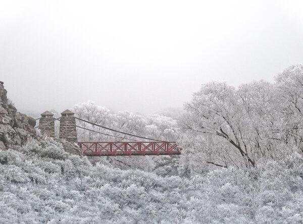 Ophir Bridge Hoar frost