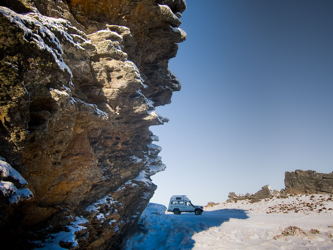 Duffers Saddle in the snow - Central Otago