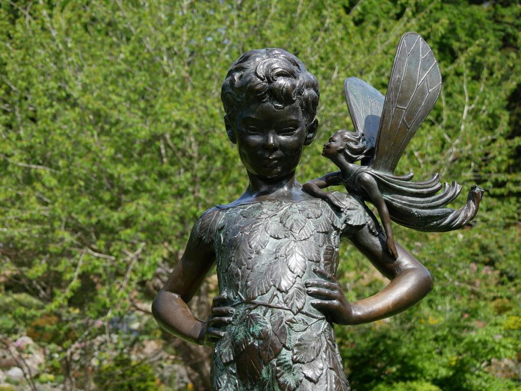 Dunedin Botanic Garden - Peter Pan statue