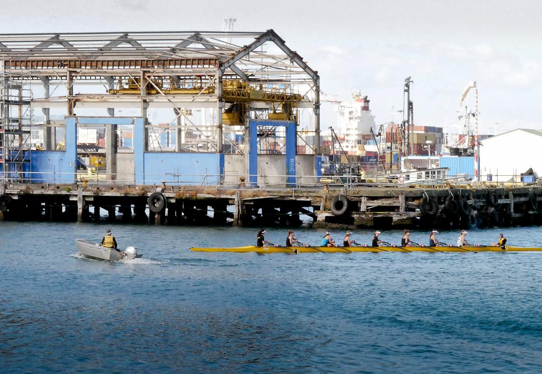 Rowing on Wellington harbour