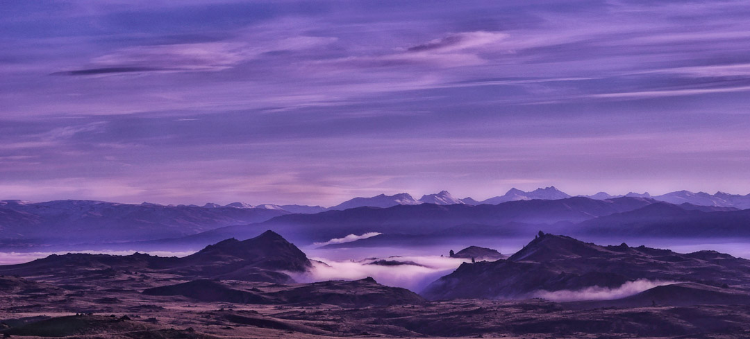 The smog of winter in the Manuherikia River Valley, Central Otago