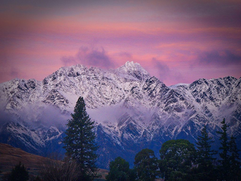 The Remarkables mountain range, Queenstown New Zealand